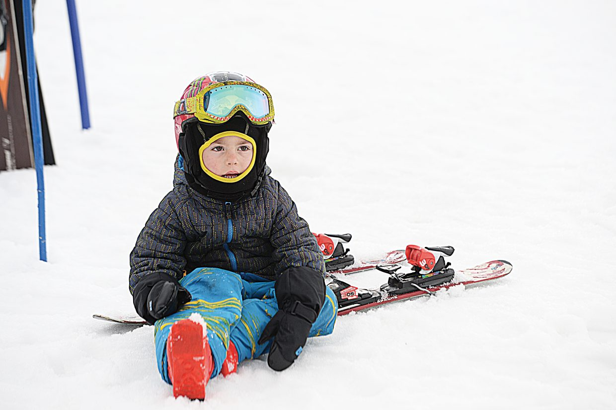 Jackson McKenzie was at the starting line of this year's Christy Sports Soda Pop Slalom early Friday morning.