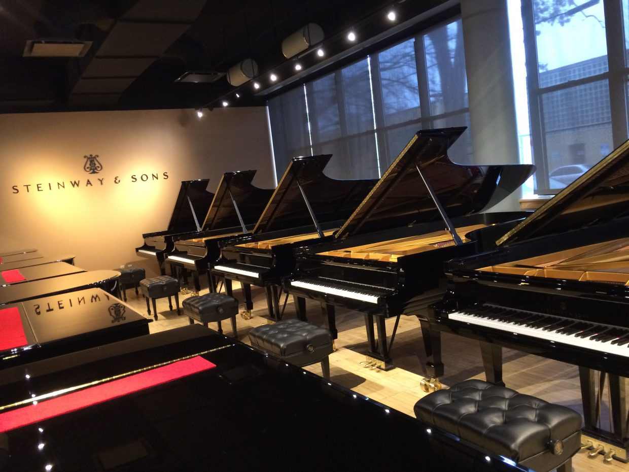 On Jan. 13, a team of directors, pianists and piano technicians with Strings Music Festival went to New York City to hand-select a grand piano from the Steinway & Sons piano factory, shown.