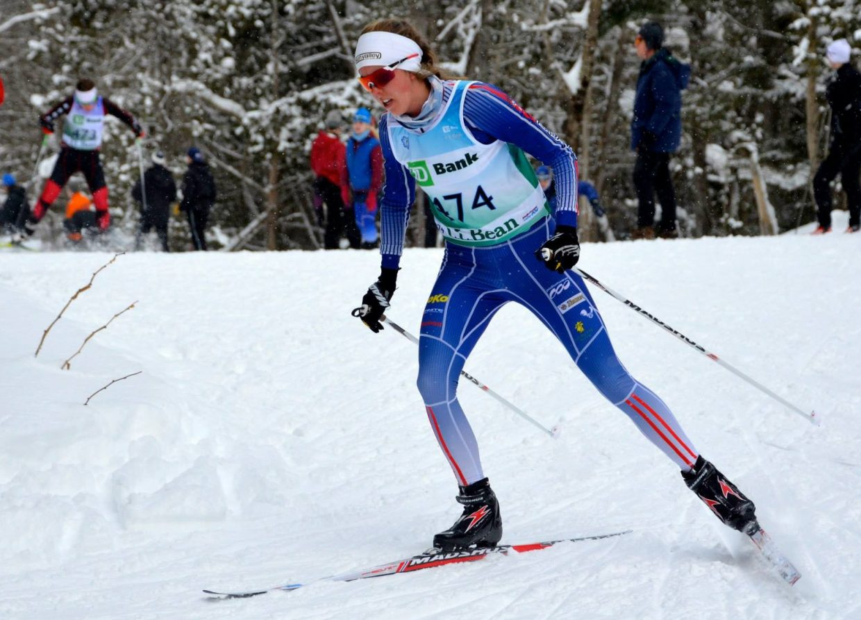 Steamboat Springs Winter Sports Club alum Mary Rose skis last weekend in a Vermont race. She shined in a series of events, winning one and placing second in another.
