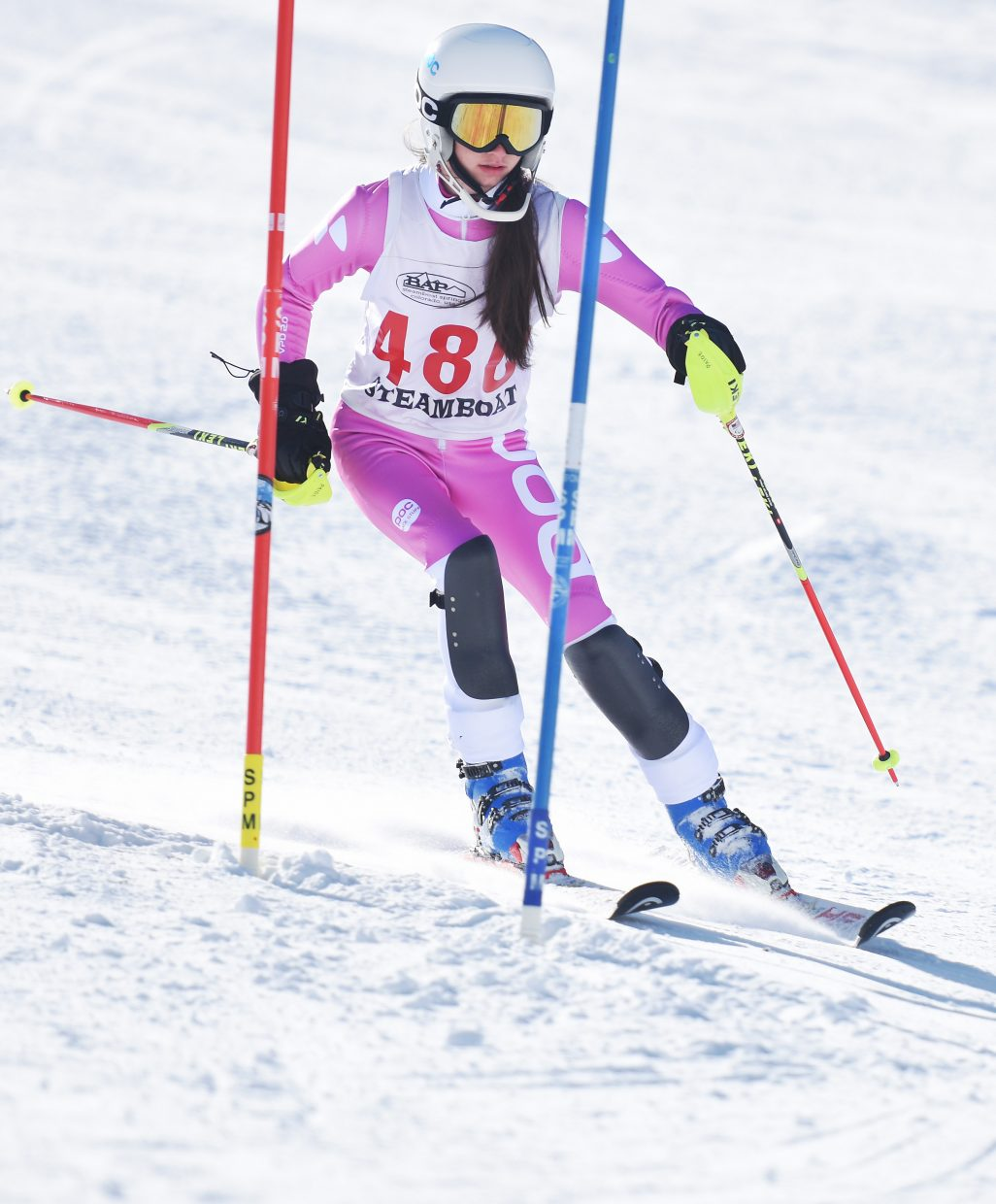 Steamboat's Paige VanArsdale skis Friday during a high school slalom race at Howelsen Hill.