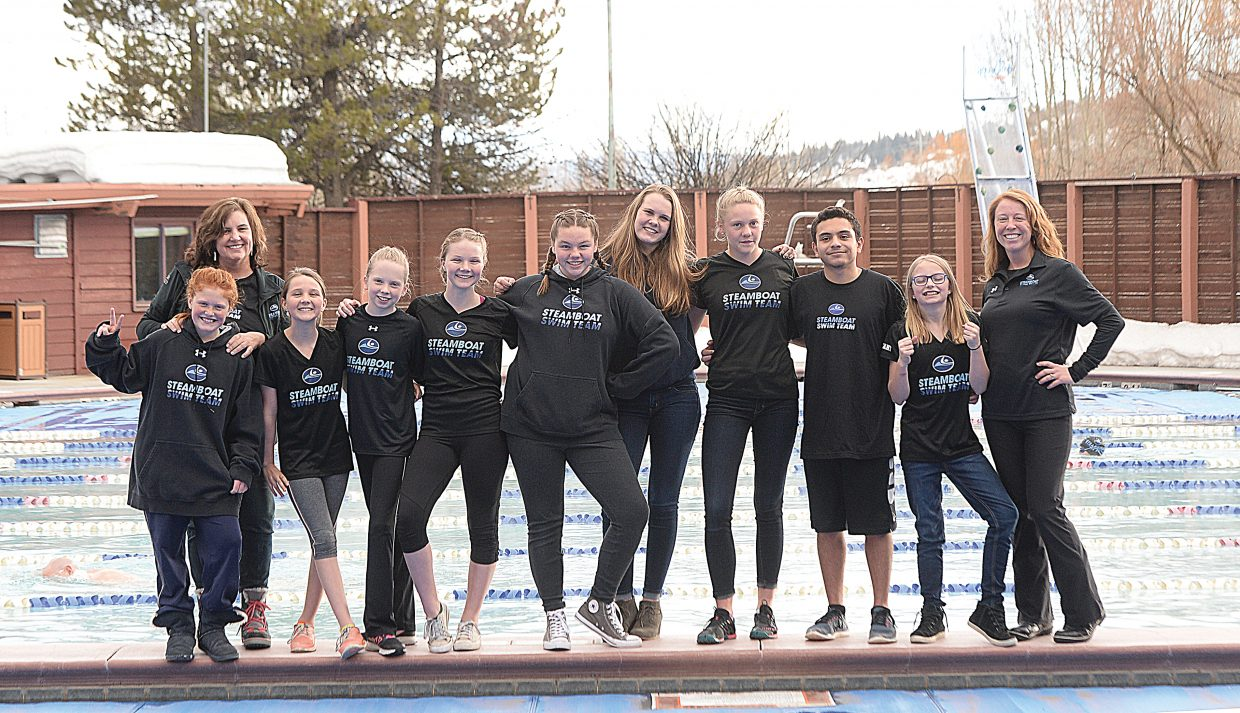 Steamboat Springs swimmers are headed to some big end-of-season meets in the next two weeks. Those qualifying included Amanda Dietrich, coach Patti Worsley, Grace O'Reilly, Katherine Knapp, Isabella O'Reilly, Saige Lottes, Annika Fahrner, Jenna Smith, Mohammed Alnajdawi, Kelsey Bryant and coach Darcy Lascano.