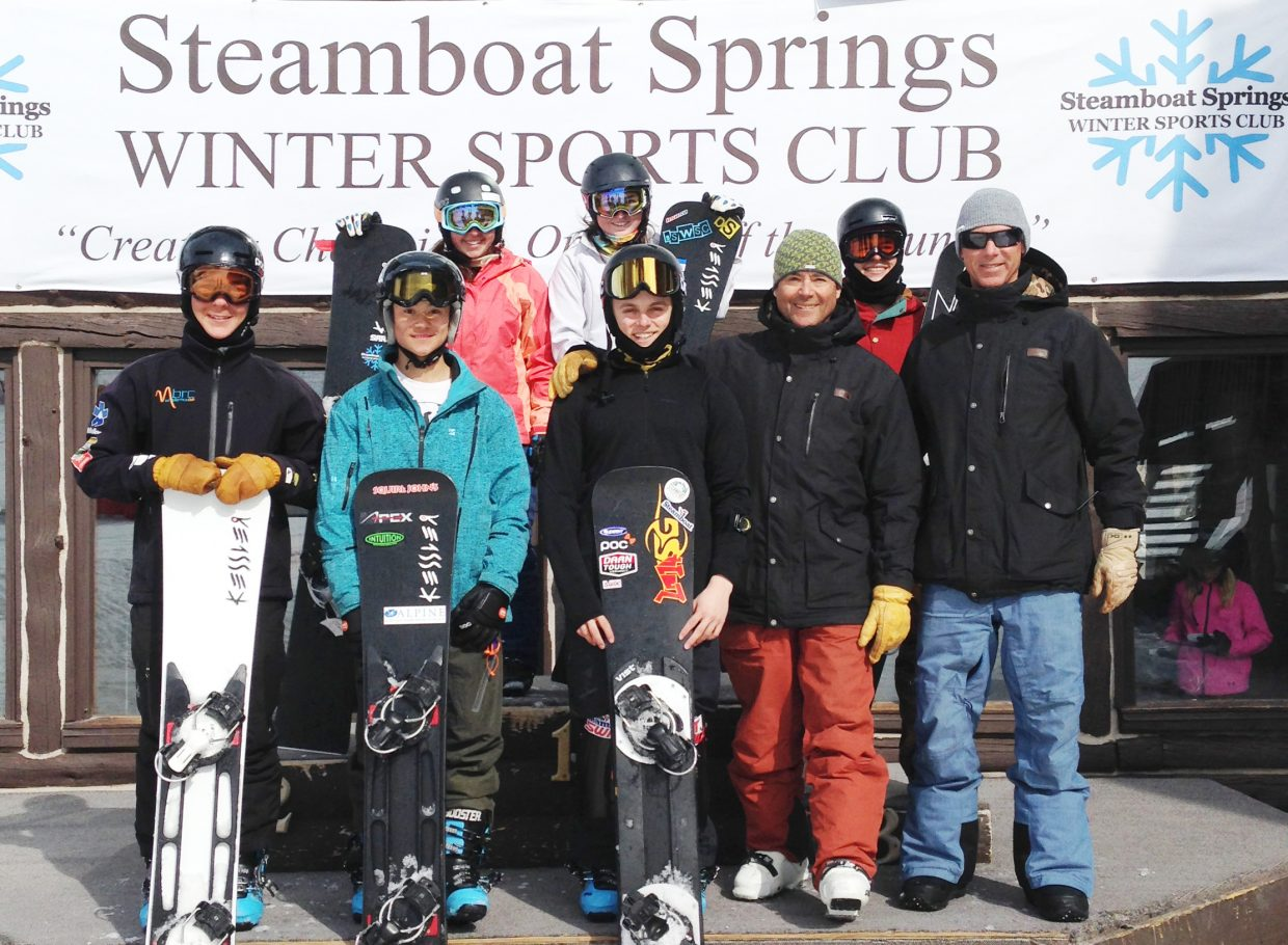 The Steamboat Springs Winter Sports Club will send six representatives to China for the World Junior Snowboarding Championships. Included are Christian De Oliveria, Riley Kilmer-Choi, Myles Silverman, Maggie Carrigan, Billy Winters, and Nina Argento.