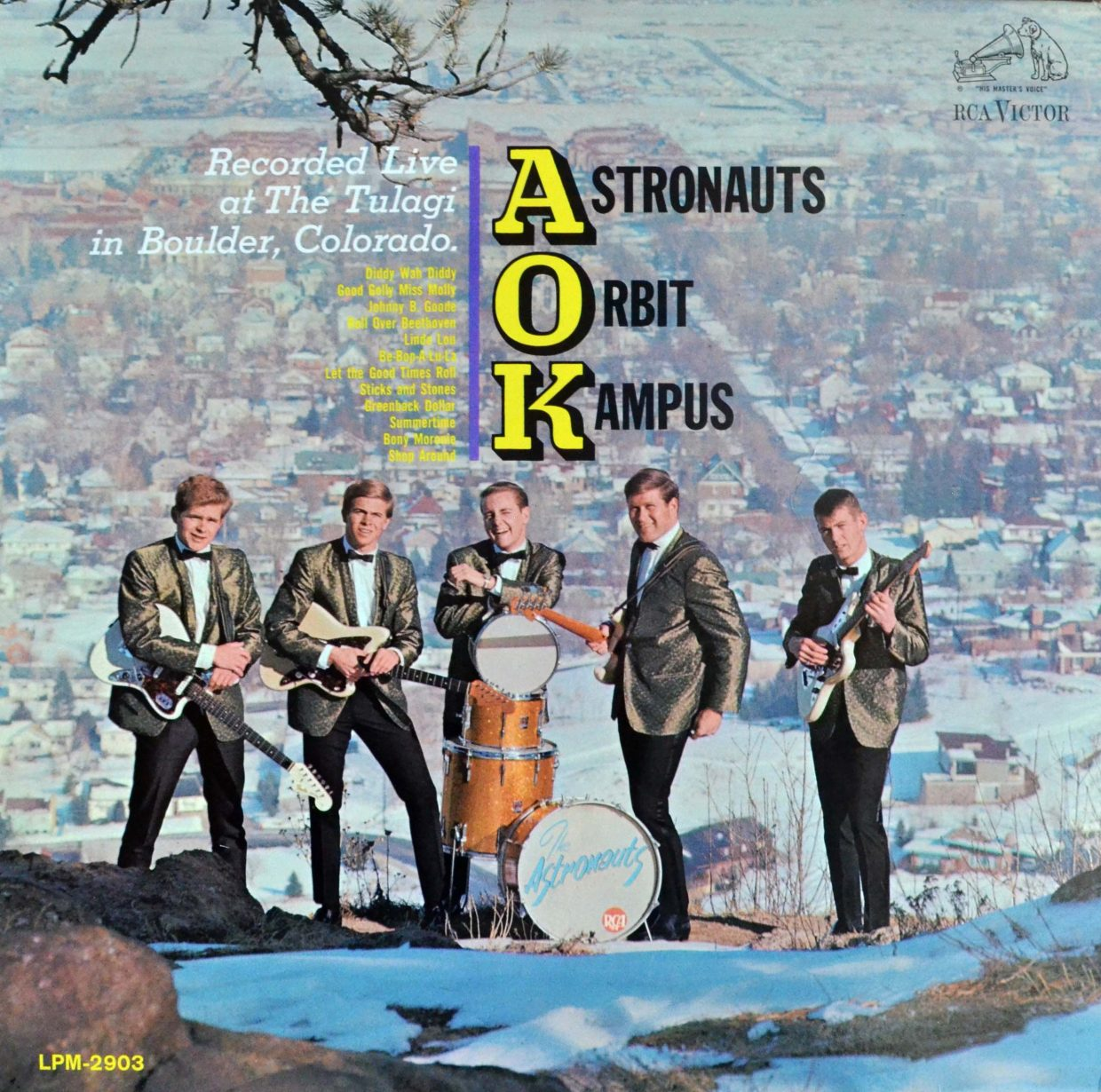 """In 1964, the same year the Beatles released """"A hard Day's Night"""" in the U.S., a Boulder, Colorado, band called the Astronauts, as adept at rock'n'roll as it was at California surf music, released an album called AOK - Astronauts Orbit Kampus - recorded live at the famed club known as Tulagi."""