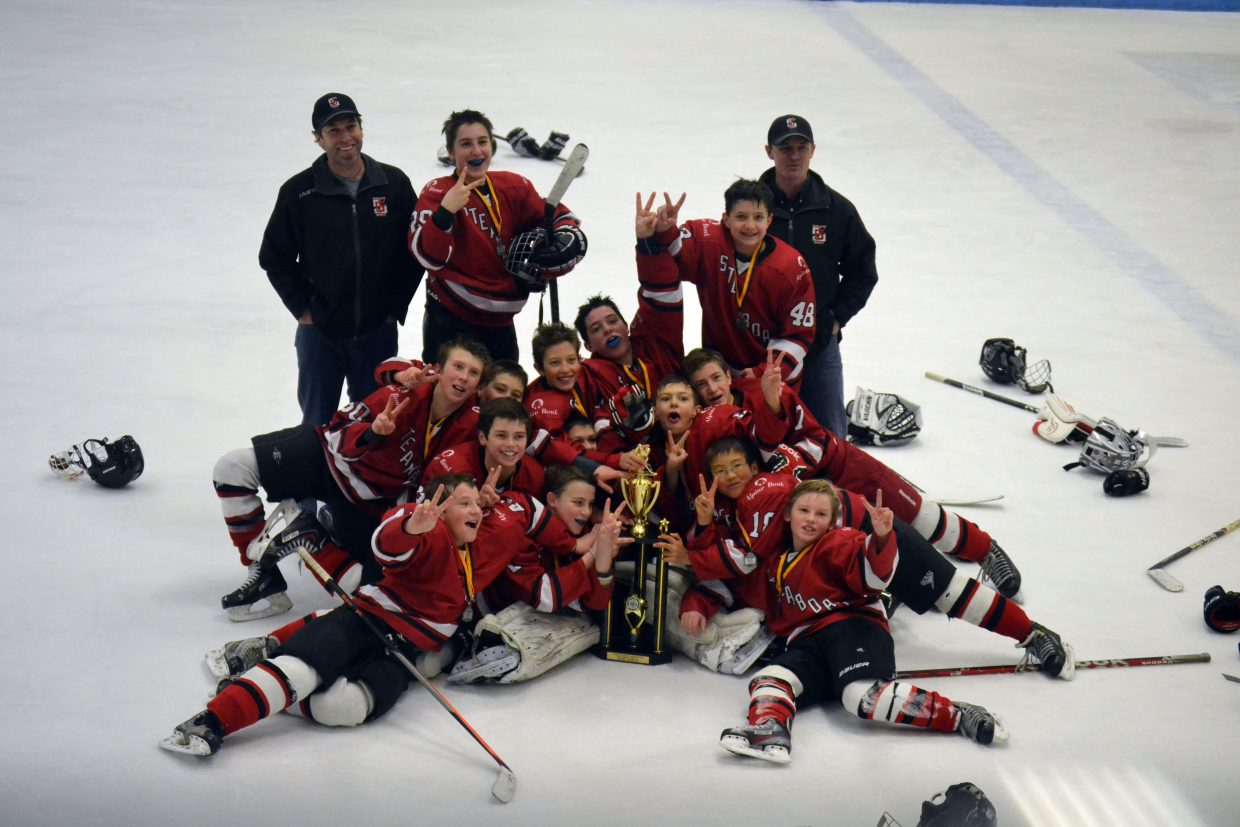 Steamboat's Pee Wee A team fought hard to win the runners-up trophy this weekend at the Winterfest hockey tournament in Arvada.