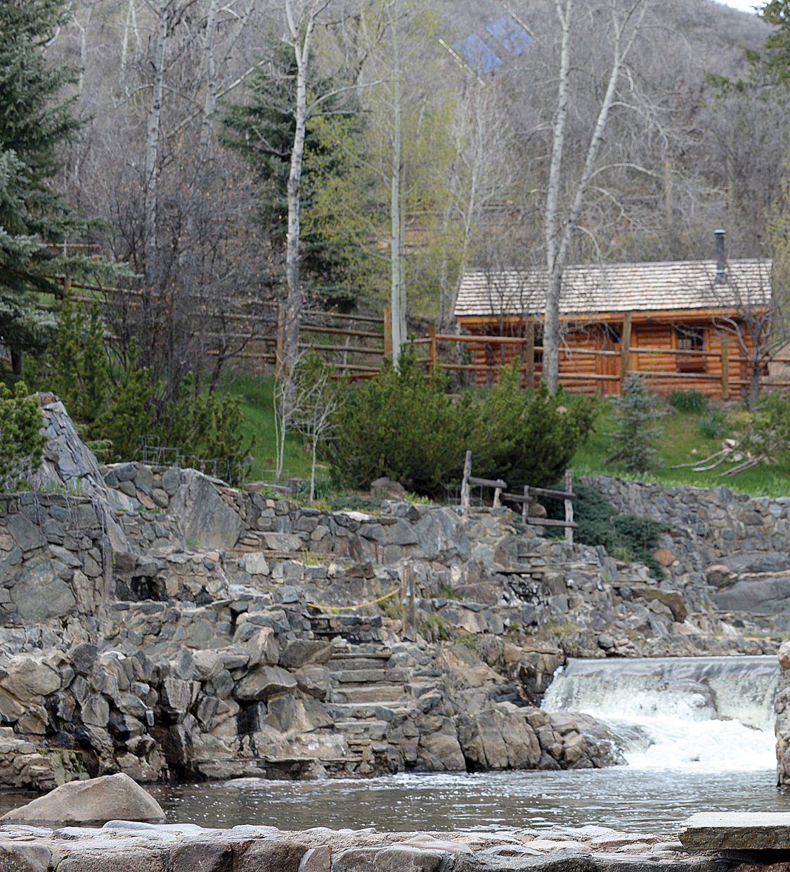 "Strawberry Park Hot Springs owner Don Johnson, who is seeking a permit from Routt County to replace two older cabins in the ""park"" with a new duplex, has worked over the years to maintain the rustic qualities of the natural hot springs while making them comfortable for guests."