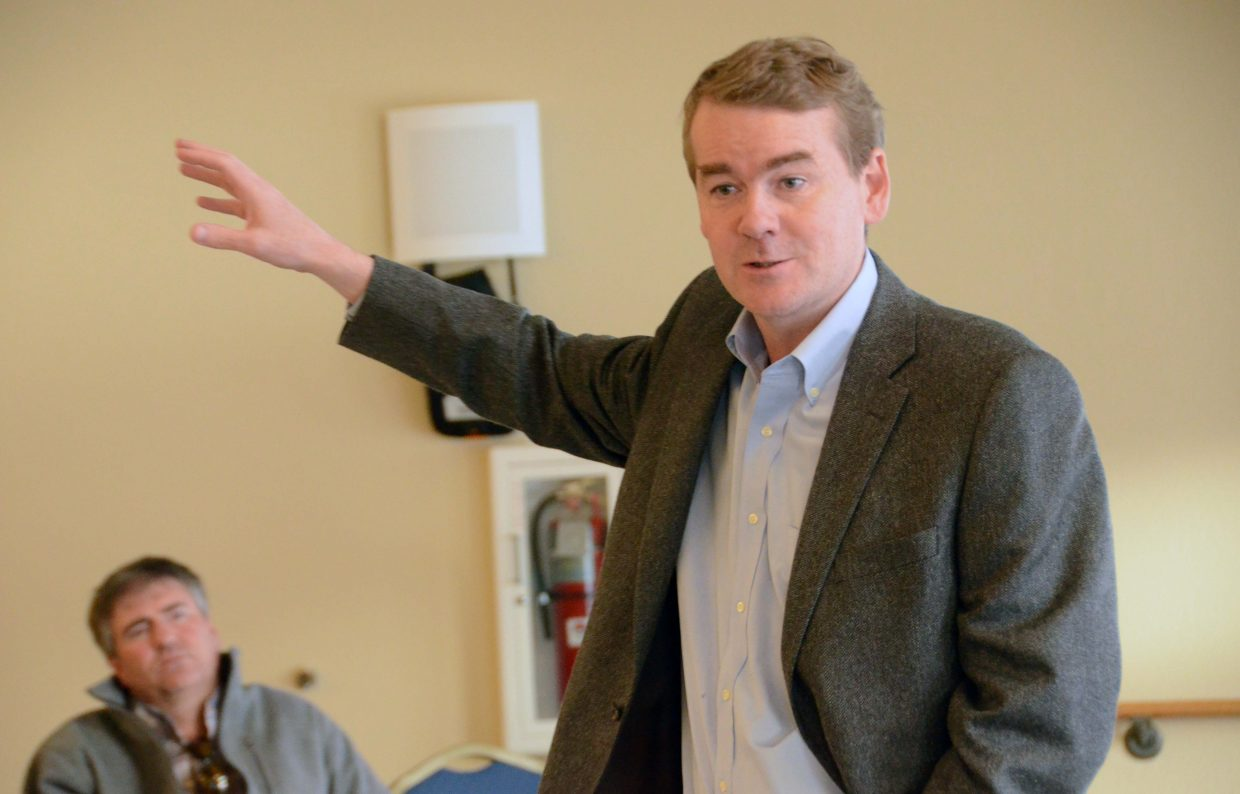 U.S. Sen. Michael Bennet, D-Colo., spoke in Hayden on Thursday evening about the farm bill and what it will mean for rural Colorado.