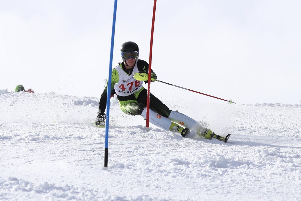 Steamboat Springs senior Andrew McCawley races earlier this month in a high school skiing event at Beaver Creek.