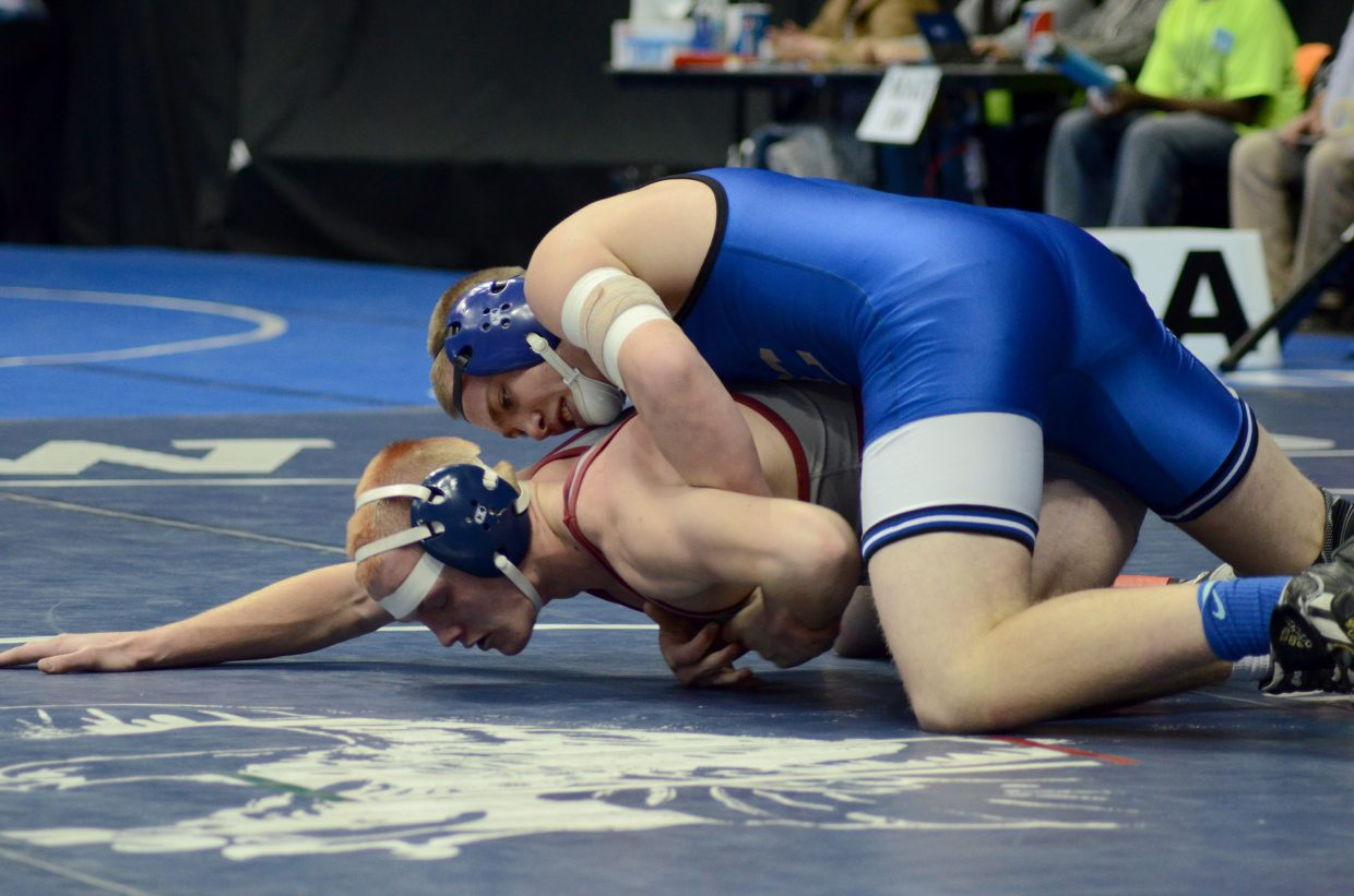 Brett Loyd was unable to get a win in his 170 lb. consolation match Friday, ending his state tournament run. He was pinned with 41 seconds left in the third period.