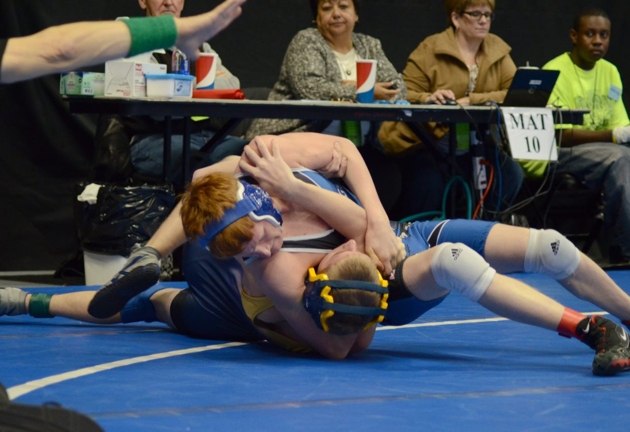 Issik Herod picked up a win by fall in the second period of his consolation match Friday in the 3A state wrestling tournament.