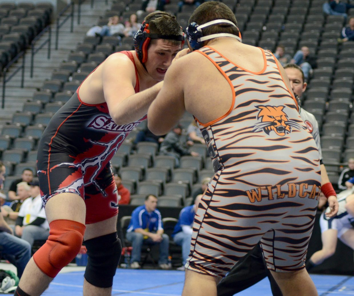 Steamboat's Cole Sittig lost his consolation bracket match and was knocked out of the state tournament after being pinned Friday.