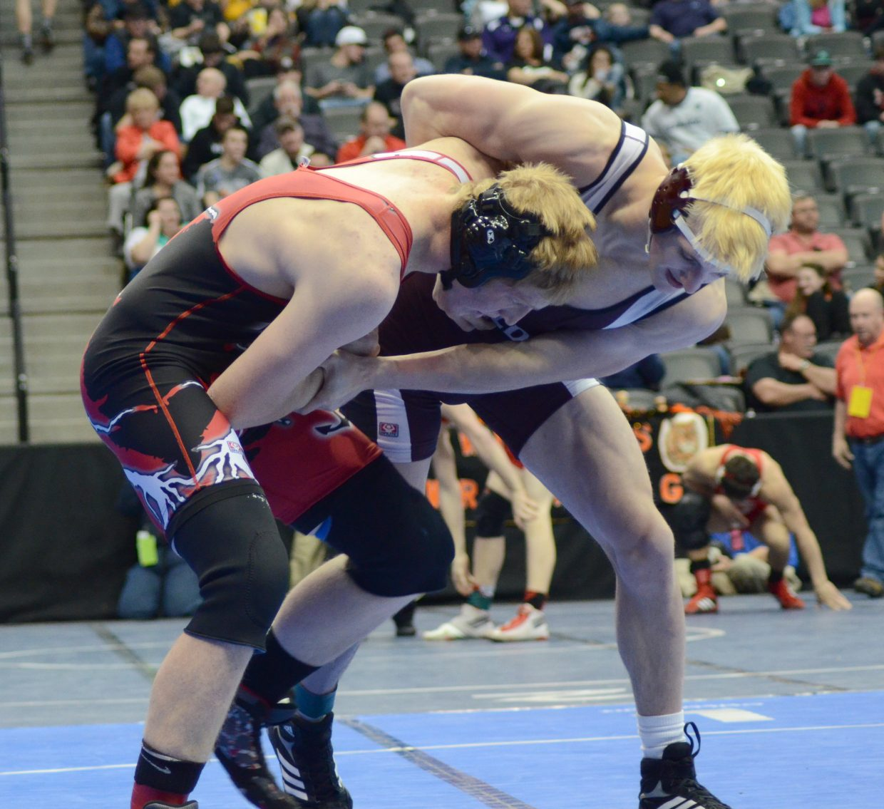 Steamboat's Brandon Yeager couldn't take down Golden's Ian Cheatum in their consolation semifinal Saturday, losing 10-2.