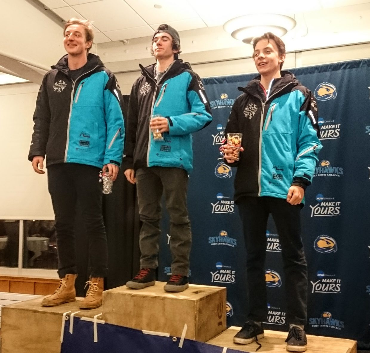Steamboat Springs skiers pulled off a sweep on Saturday in a 10K mass start event for U20/18 skiers in Durango. Wyatt Gebhardt won, Noel Keeffe was second and Sven Tate third.