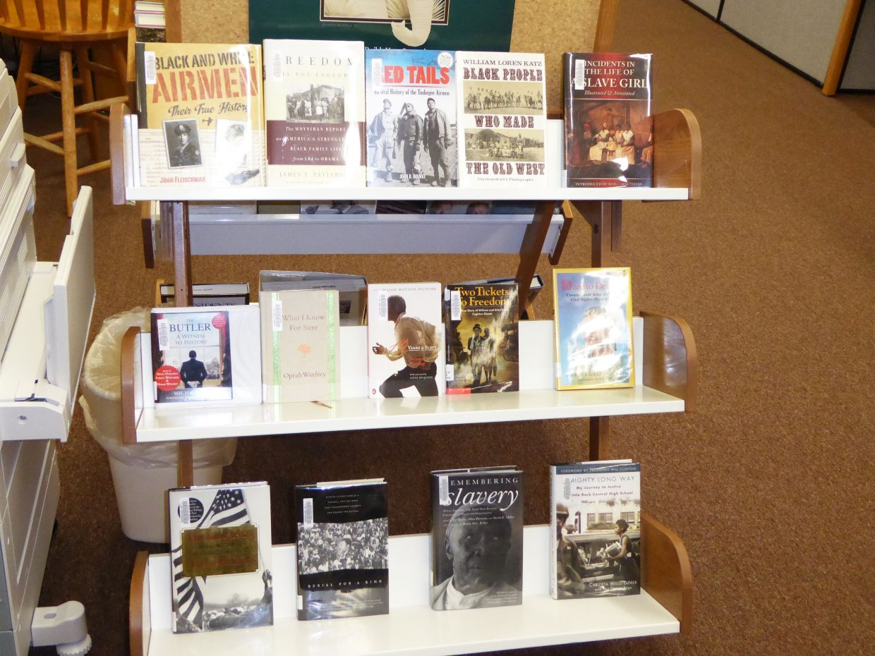 "Staff members for the Moffat County Library in Craig have arranged a book and DVD display for Black History Month. Christy Gonzales, library services supervisor, said she tried to find works about topics that people may not yet have encountered as she contributed to the display. She noted a work that explores the Tuskegee Airmen — African American pilots who served during World War II. ""I think that's an important part of history,"" Gonzales said. The display is slated to be up through the end of February."