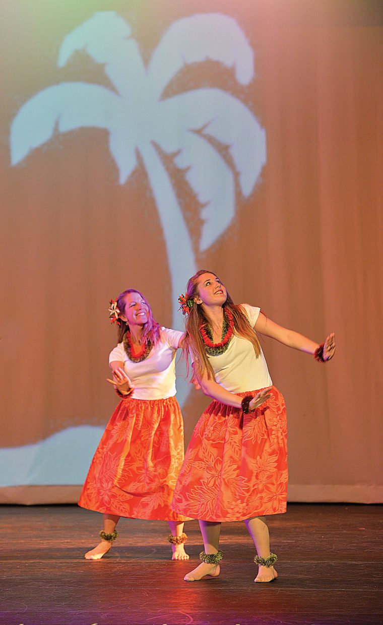 """Madi King dances in """"Ka Uluwehi a Ke Kai,"""" which means the plants of the sea, during a rehearsal for the 2015 Steamboat Dance Theatre's performance. This is the 43rd year for the show, which will have performances beginning at 7 p.m. Thursday through Saturday and a matinee at 12:30 p.m. Saturday."""