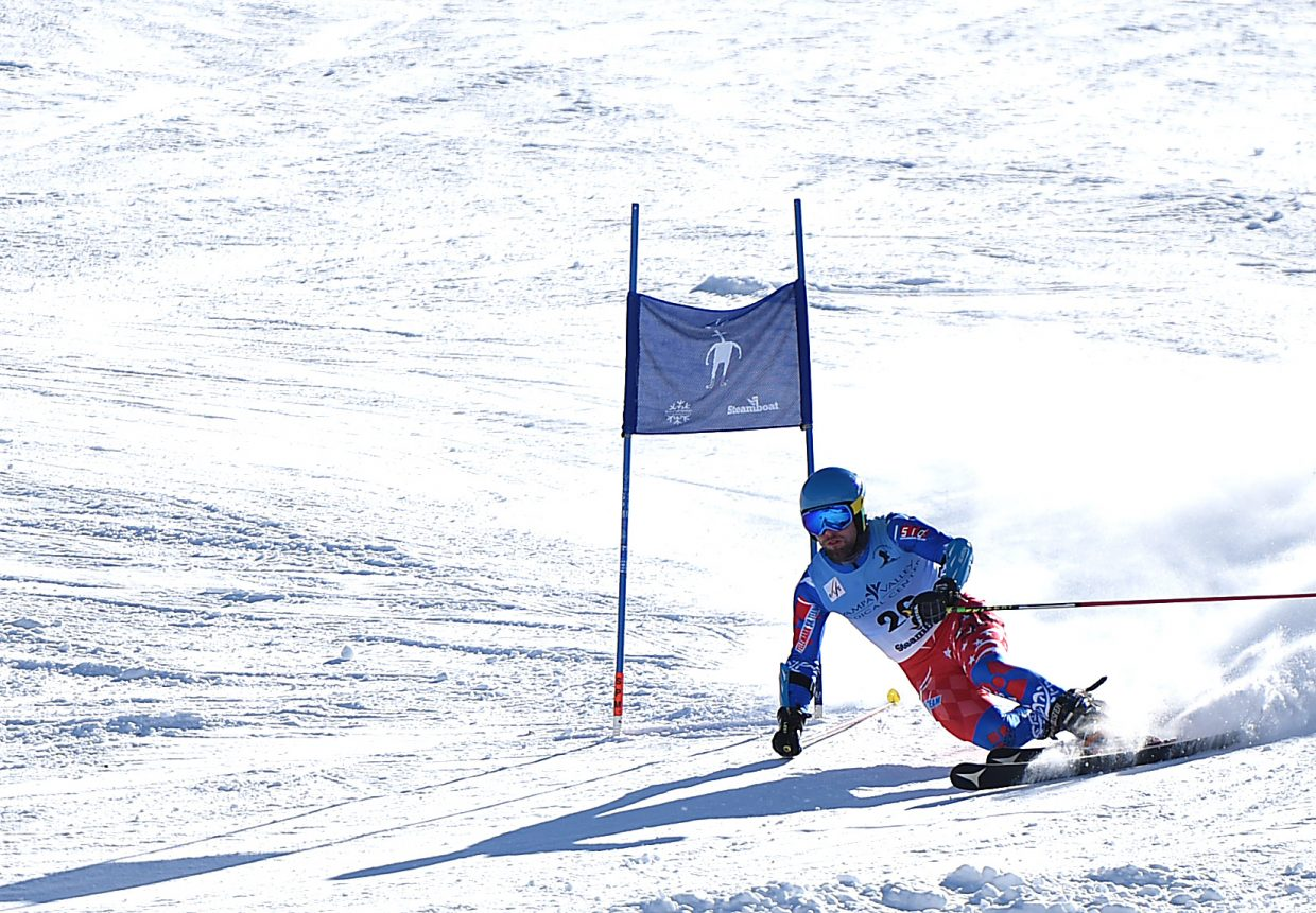 Cory Snyder skis Tuesday in the 2015 FIS Telemark World Championship in Steamboat Springs.
