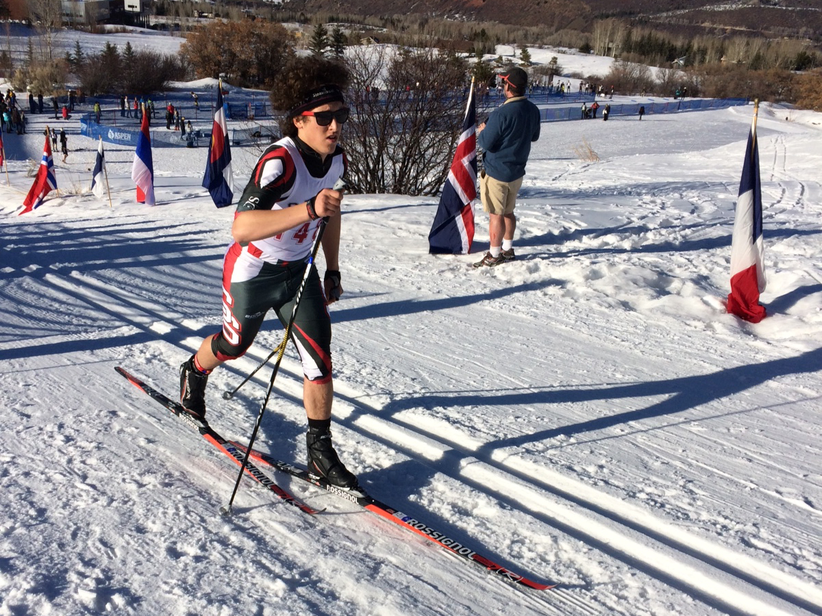 Steamboat Springs High School Nordic skier River Ludwick competes Thursday at the state championship meet in Aspen. The Sailor boys Nordic ski team finished sixth in the 5K classic race.