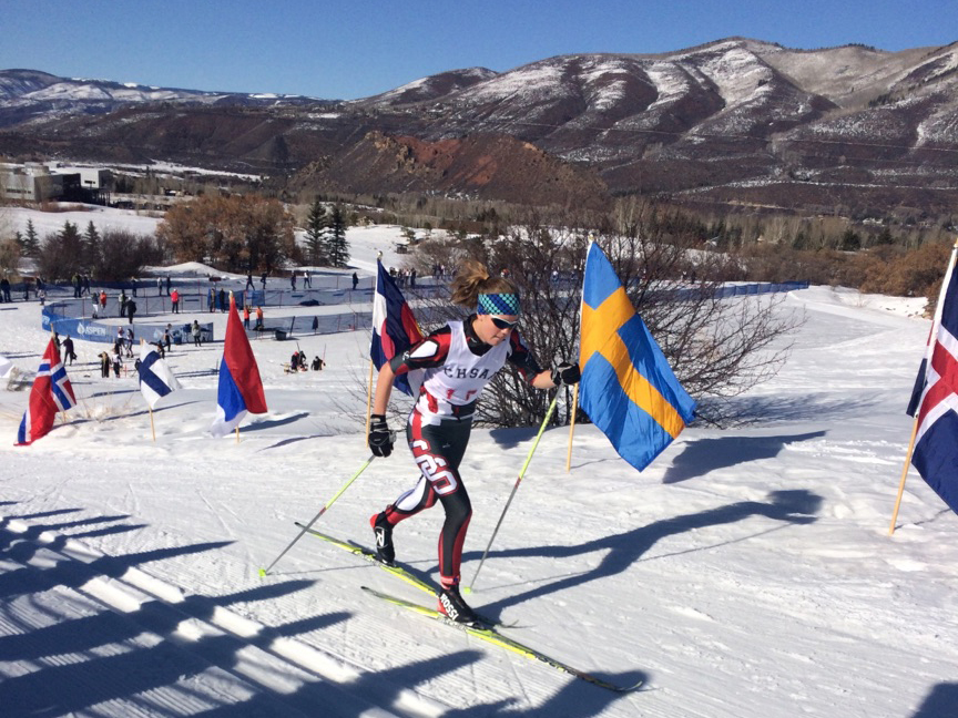 Steamboat Springs High School Nordic skier Natalie Bohlmann competes Thursday at the state championship meet in Aspen. Bohlmann finished fifth in the girls' 5K classic race.