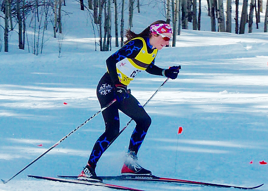 Steamboat's Waverly Gebhardt skis Sunday in a skate skiing mass start race in Minturn. She went on to win the race, adding that victory to a second-place finish from Saturday.