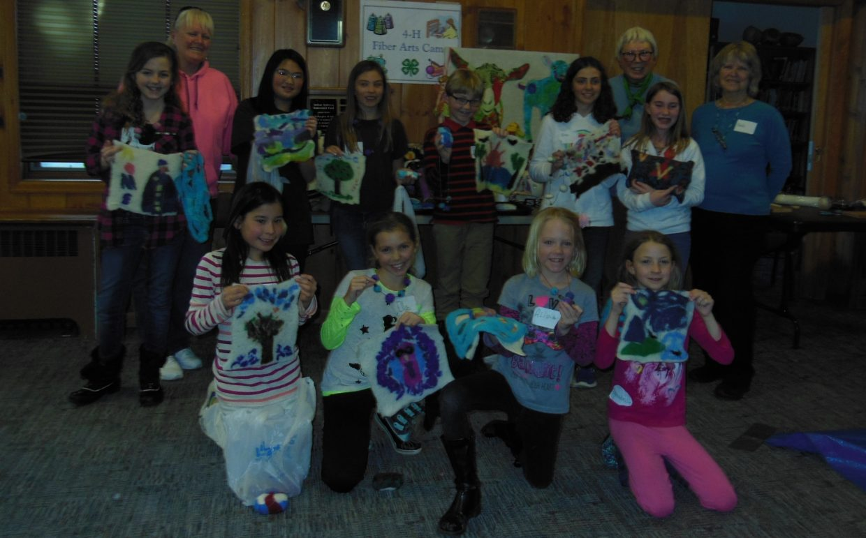 4-H Fiber Arts Camp (Feb. 17 and 18) participants show off their felting creations. Submitted by: Robin Stone