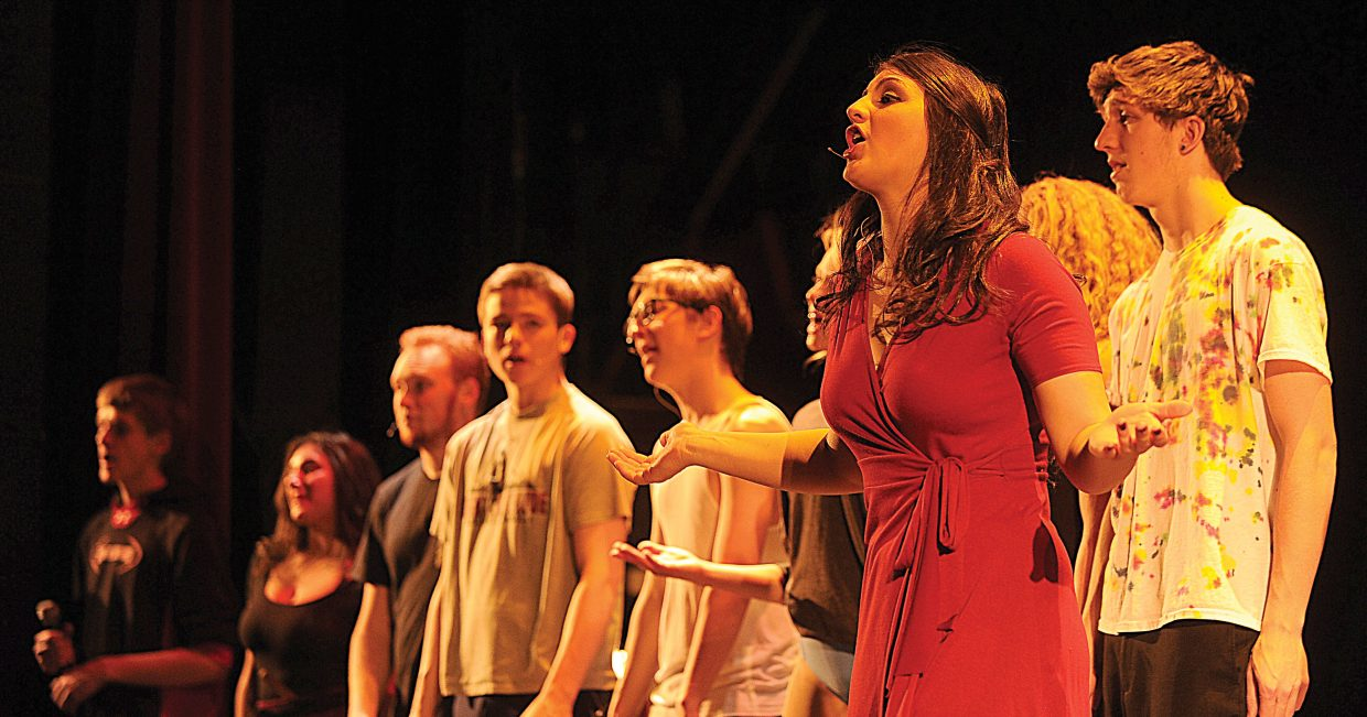 "Carly Hanley rehearses his part in Steamboat Springs High School's production of ""A Chorus Line."" The musical opens at 7 p.m. Thursday."