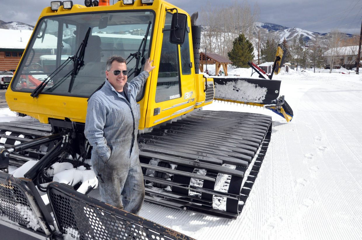 Barry Fischer is the city's bombardier specialist. Anyone who skis Howelsen Hill has Fischer to thank for making sure the snowcats that groom the trails are operational.