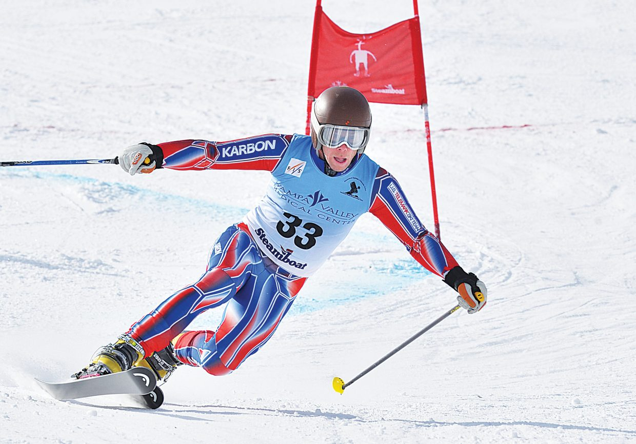 Steamboat Springs racer Charlie Dresen rounds a gate during the 2015 FIS Telemark World Championships men's Parallel qualifier. The top racers from Wednesday's event will race in the finals Thursday. The Telemark World Championships are taking place at Howelsen Hill and Steamboat Ski Area this week.