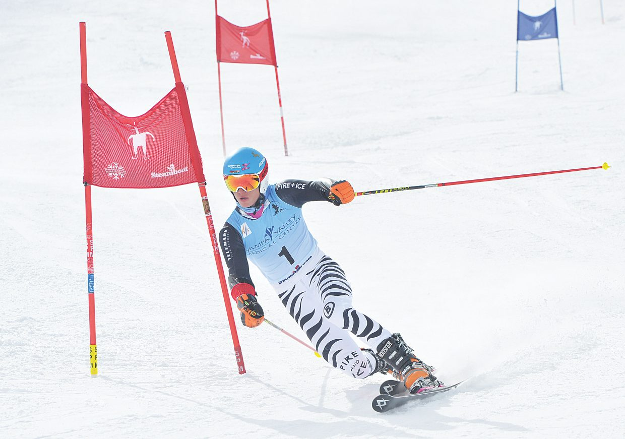 Tobias Mueller races through the gates during Thursday's FIS Telemark World Championship men's parallel sprint, which was held at Howelsen Hill. The World Championships will continue Friday at 10:30 a.m. with the classic race on Vagabond at Steamboat Ski Area.