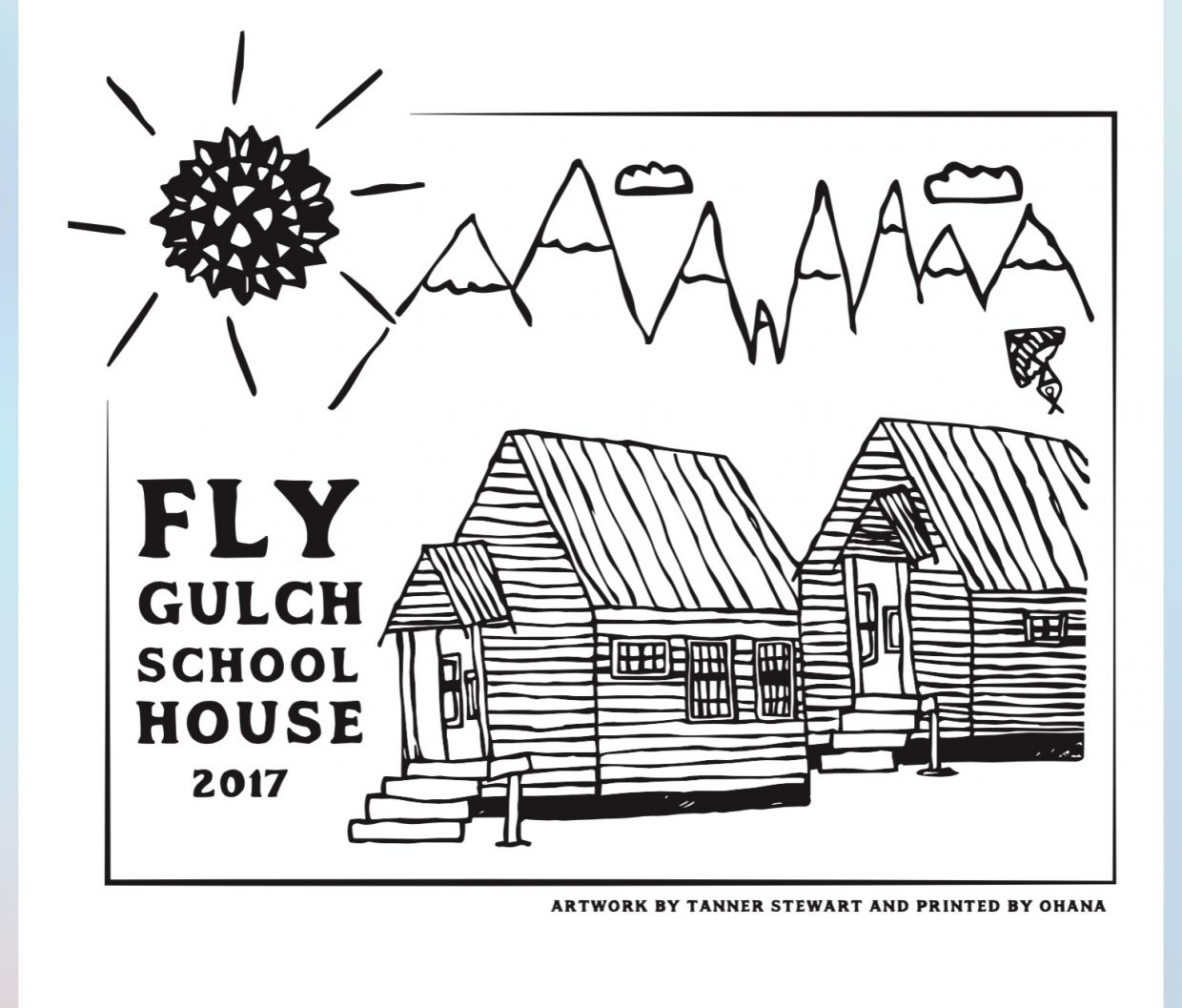 Strawberry Park Elementary fifth grader Tanner Stewart designed artwork that will be turned into a shirt sold by Ohana to benefit the Fly Gulch School House project.