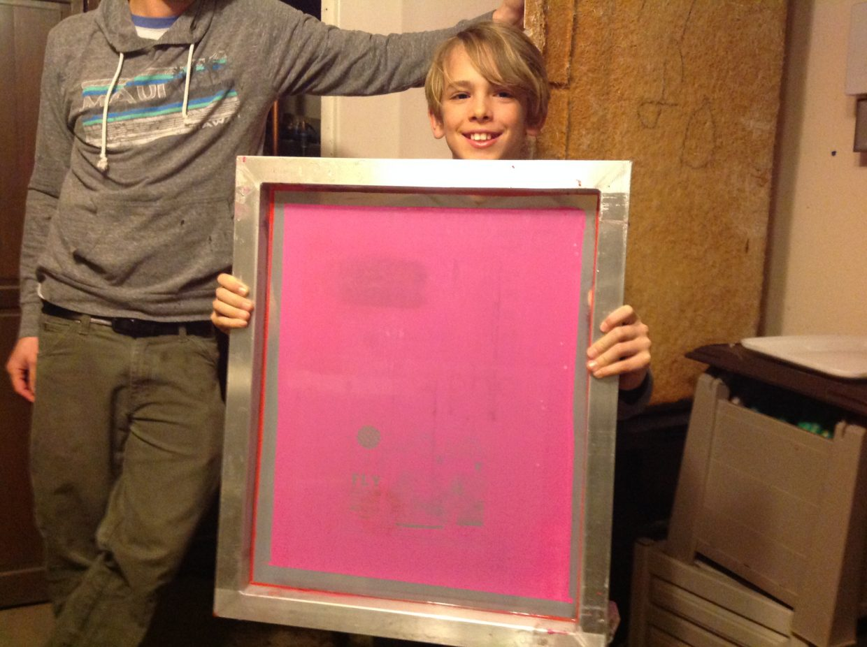 Strawberry Park Elementary student Tanner Stewart visited Ohana earlier this month to learn about T-shirt printing in advance of Friday's printmaking party at the store.