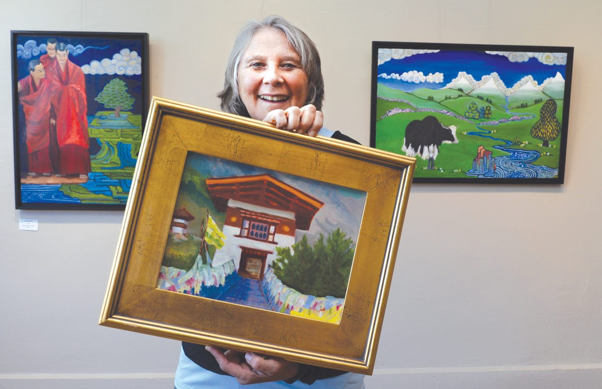 Painter Maggie Smith will display her latest work, which includes paintings of a recent trip to Bhutan, this month at the Circle  7 Gallery in downtown Steamboat Springs.
