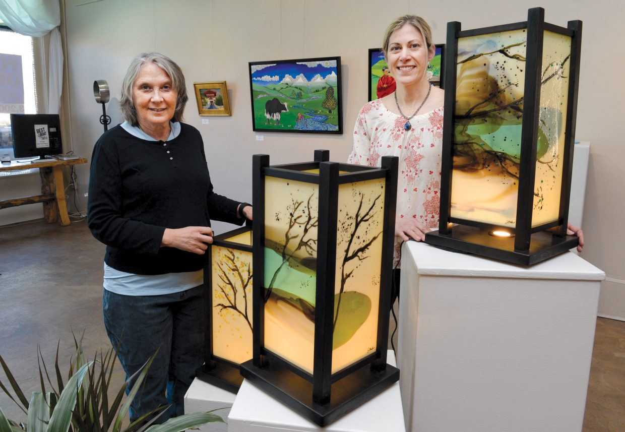 Artists Maggie Smith, left, and Jennifer Baker will display their latest work at the Circle  7 Gallery in downtown Steamboat Springs.