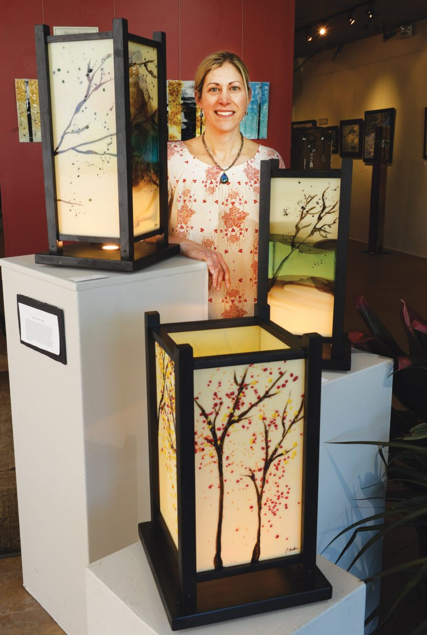 Glass artist Jennifer Baker will display  her Shoji Lanterns this month at the Circle 7 Art Gallery in downtown Steamboat Springs.
