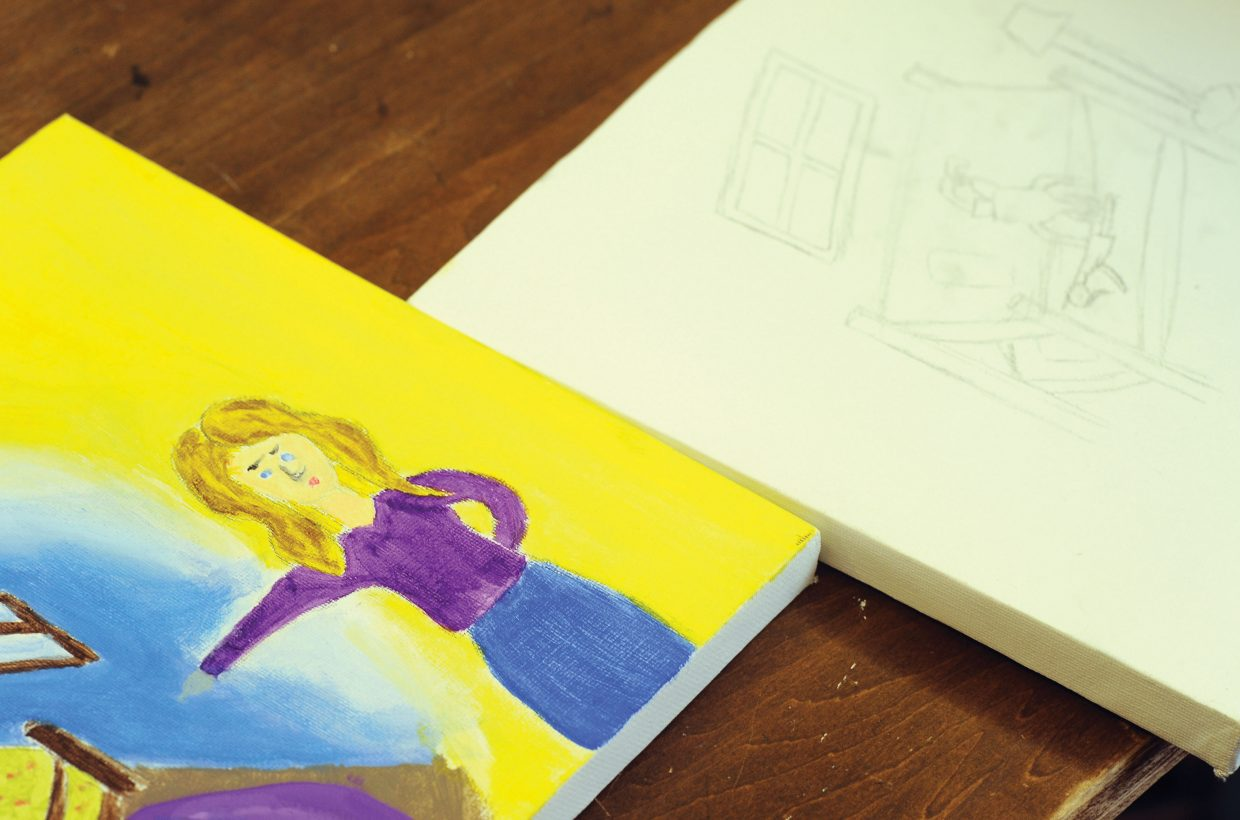 Illustrations for Trish Carpenter's next children's book is created by students at The Lowell Whiteman School.