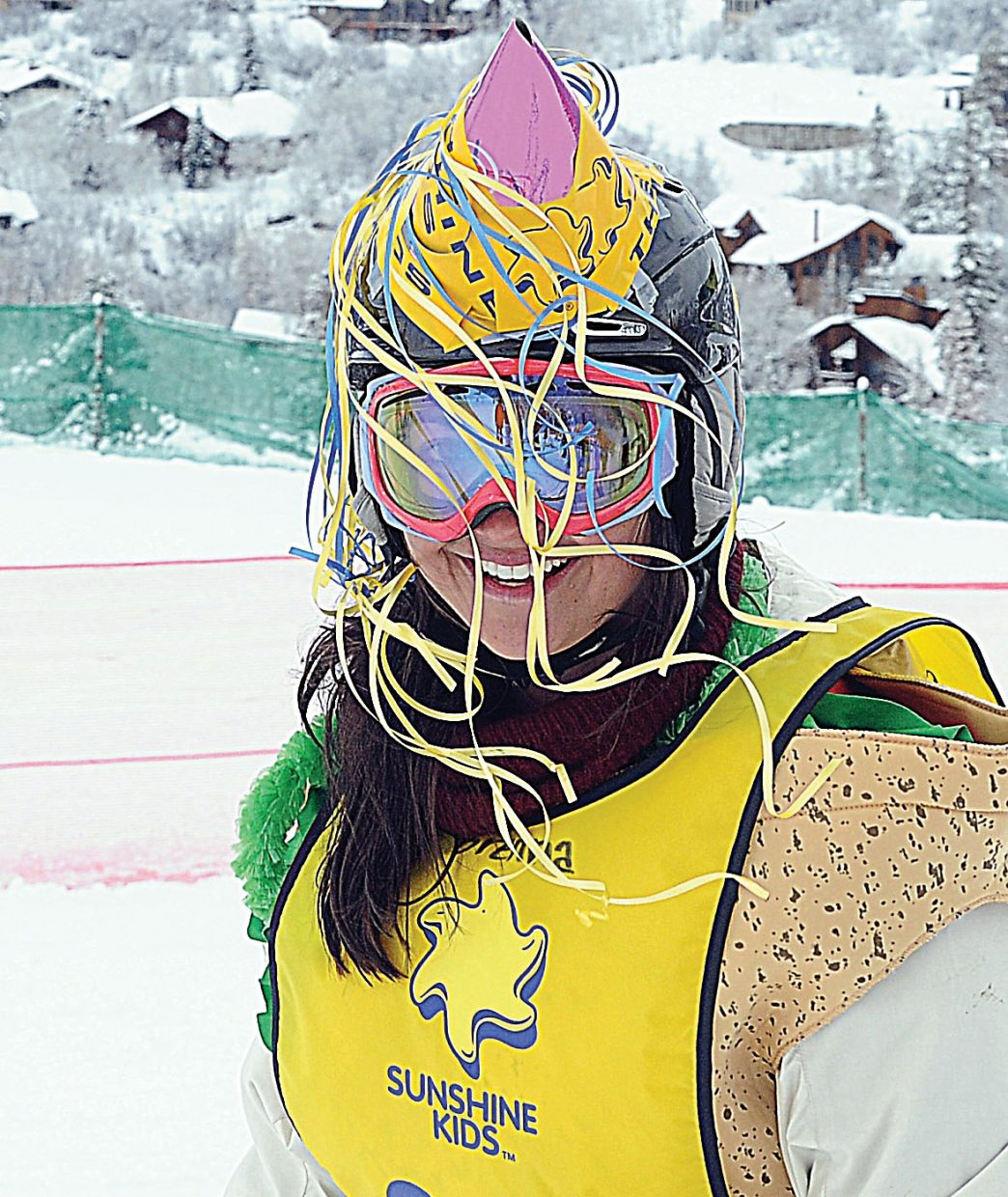 Louisiana resident Brenna Huckaby smiles at the base of the Bashor ski run Friday morning at the Sunshine Kids annual Winter Games. The Sunshine Kids is a nonprofit organization dedicated to children with cancer. It provides positive group activities and emotional support for young cancer patients, and brings a group to Steamboat Ski Area each year.