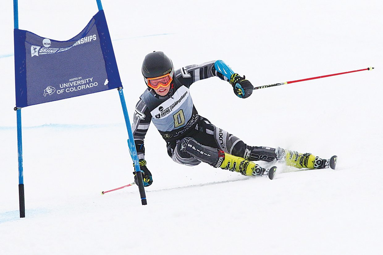 Steamboat Springs ski racer Jett Seymour foreruns the NCAA Championships last year. Seymour will travel to Are, Sweden, where he will compete as part of the FIS Junior World Ski Championships March 6 to 14.