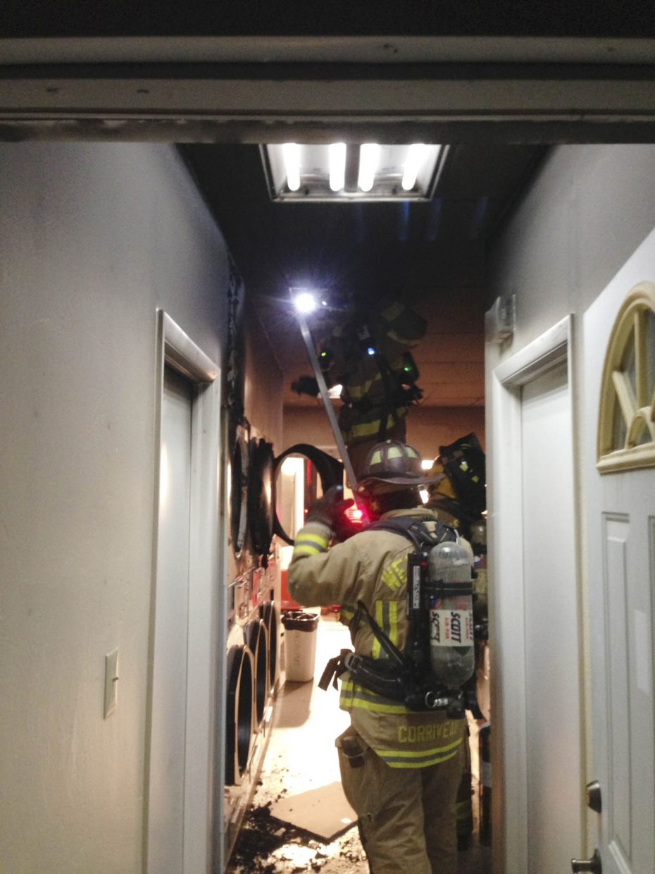 At about 4 a.m. Saturday, West Routt Fire Protection District firefighters were called to investigate a fire at a laundromat in the 100 block of South Walnut Street. It was a small fire in a dryer, and the building sustained some heat and smoke damage.