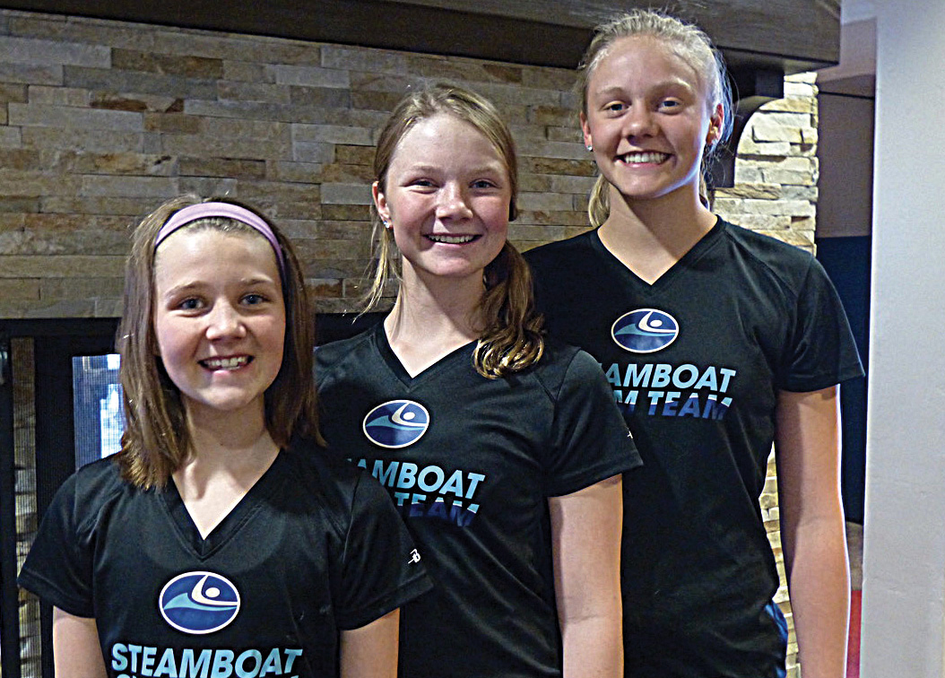 Steamboat Springs swimmer Grace O'Reilly, Isabella O'Reilly and Jenna Smith recently returned from the state swim meet with top results.
