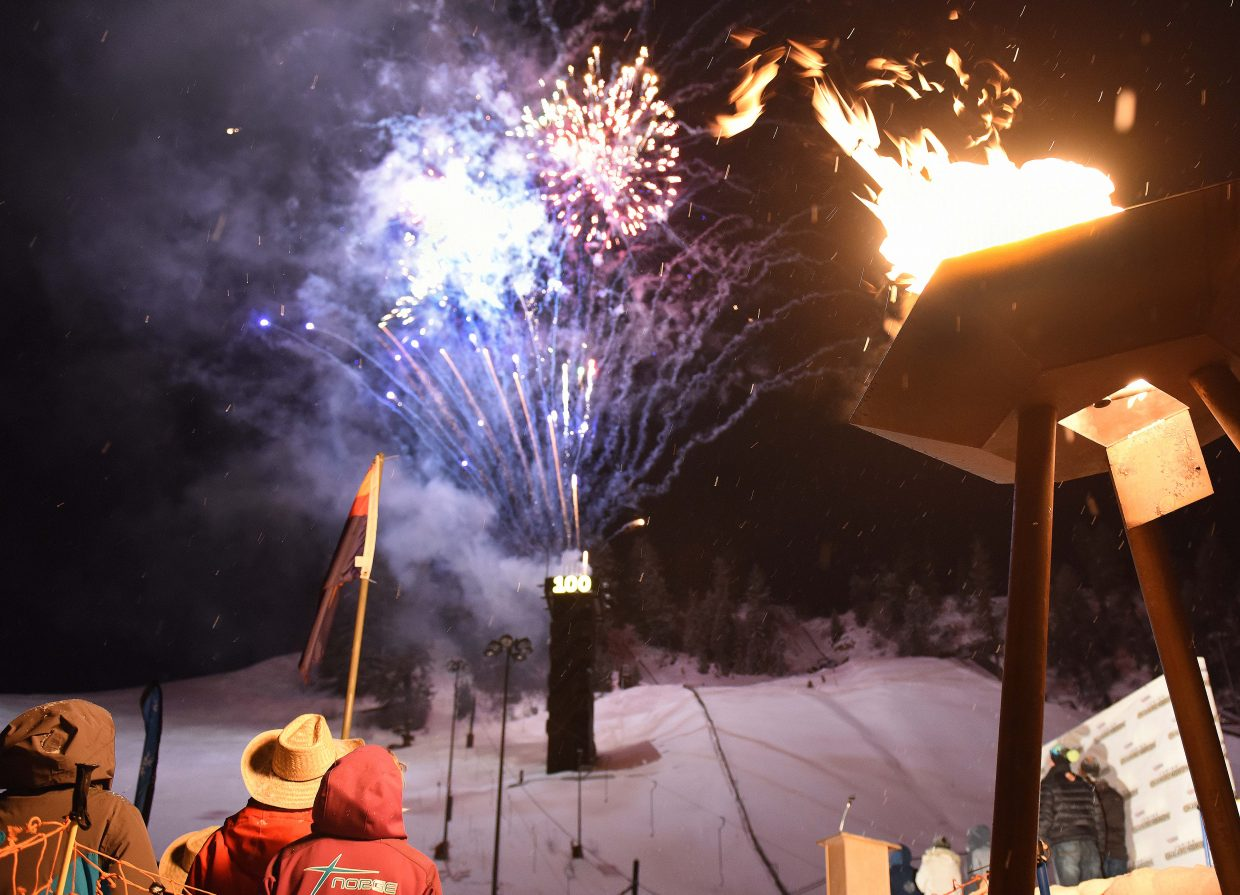 Steamboat Springs welcomed two big ski events to town Tuesday night in a very Steamboat way, with fireworks and snow. The opening ceremonies for both the U16 Rocky/Central Junior Alpine Skiing Championships and the Ski Jumping and Nordic Combined Junior Nationals took place at Howelsen Hill. The Alpine event began Tuesday with a downhill race. The ski jumping and Nordic combined event gets underway with competitions Thursday.