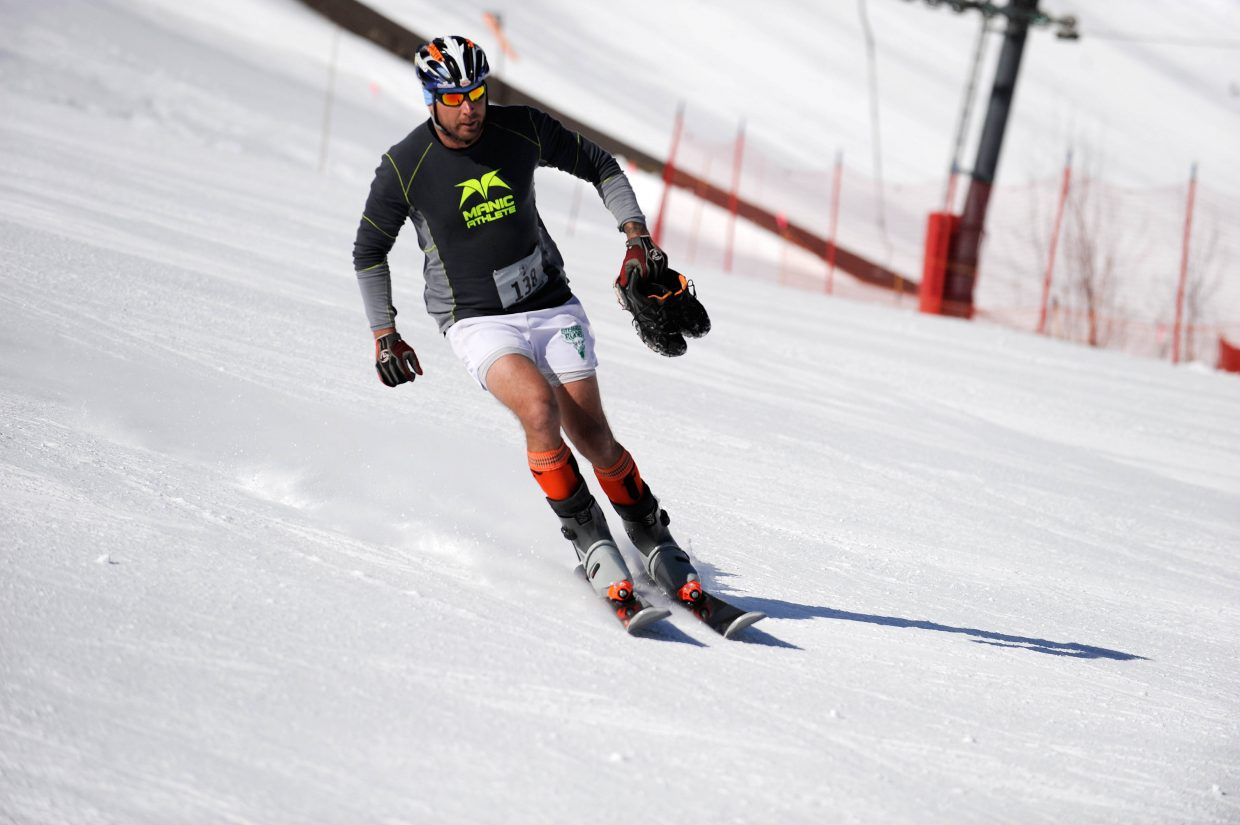 Matt Kane comes down Howelsen Hill during the first leg of the Steamboat Pentathlon.