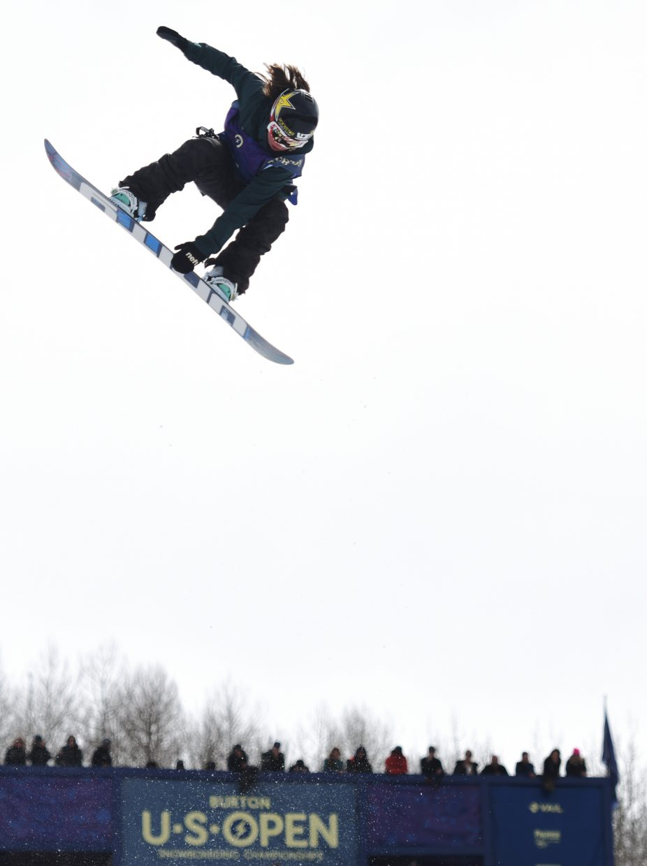 Arielle Gold soars at the U.S. Open in Vail. She finished fourth in the women's half-pipe event.