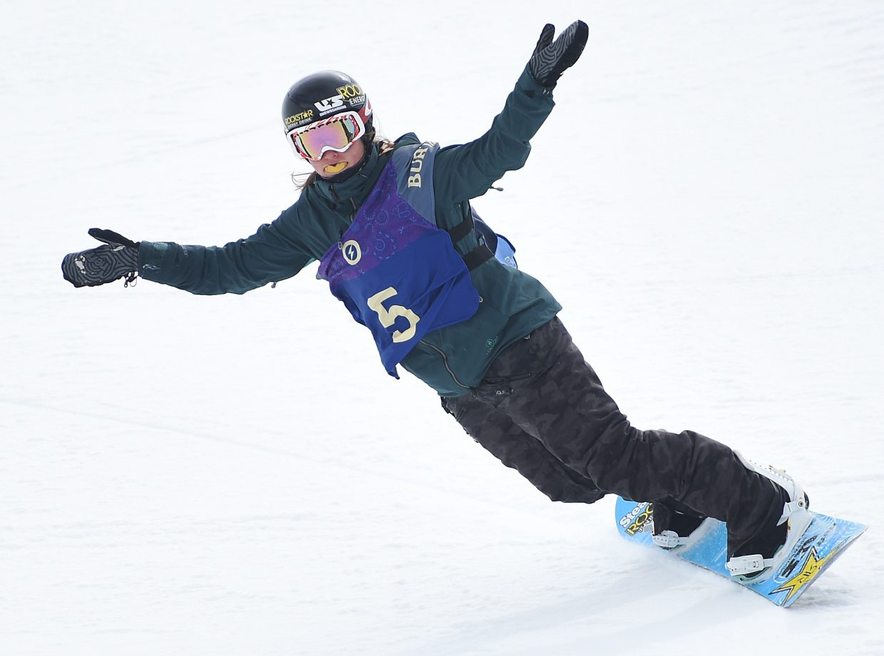 Steamboat's Arielle Gold shrugs off her frustration in Saturday's U.S. Open half-pipe event in Vail. She finished fourth.