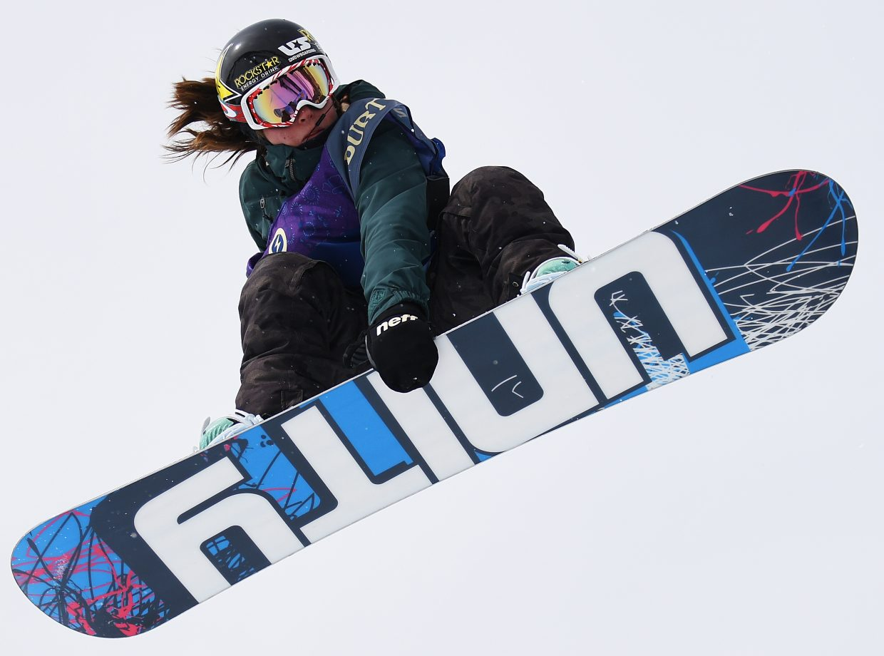 Steamboat's Arielle Gold spins through a 900 during the 2017 U.S. Open halfpipe finals.