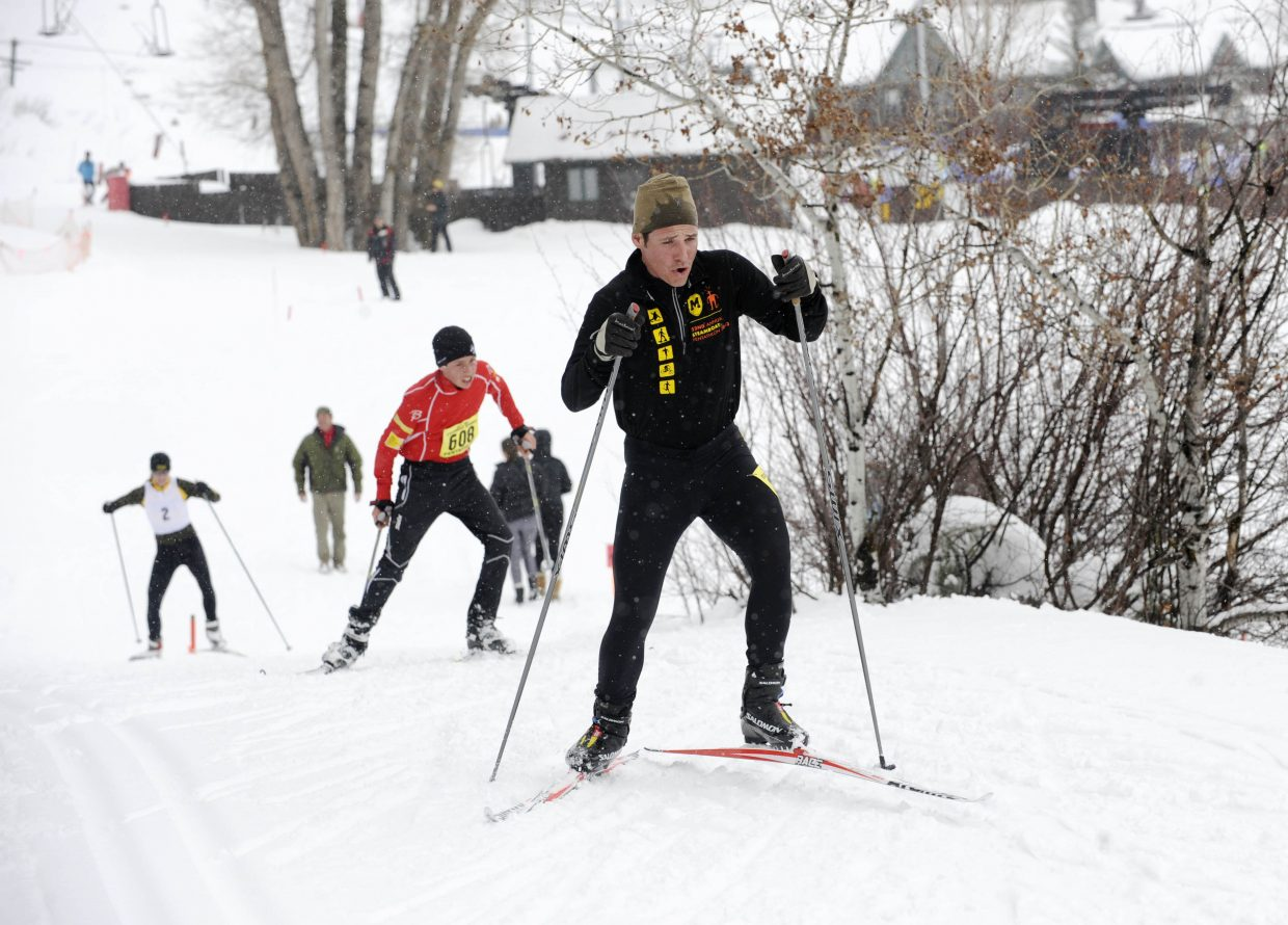 Eric Rabesa competes in the 2013 Steamboat Springs Pentathlon at Howelsen Hill. The event, in its 23rd year in 2014, remains a popular event for Steamboat athletes, but expansion long has been part of the plan for organizers.