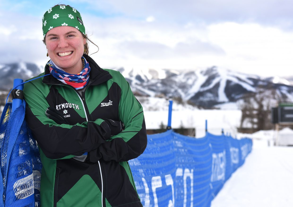 Dartmouth senior Mary O'Connell is one of three athletes with ties to Steamboat Springs competing in this week's NCAA National Collegiate Skiing Championships in Steamboat Springs. Three events will take place at Howelsen Hill and one at Steamboat Ski Area.
