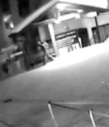 Surveillance video footage shows the burglary suspect walking away from Steamboat Ski and Sport in Gondola Square.