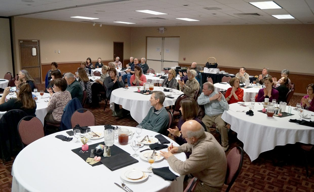Supporters of Moffat County United Way gathered for lunch at the Clarion Inn & Suites to recap on the 2016 campaign.