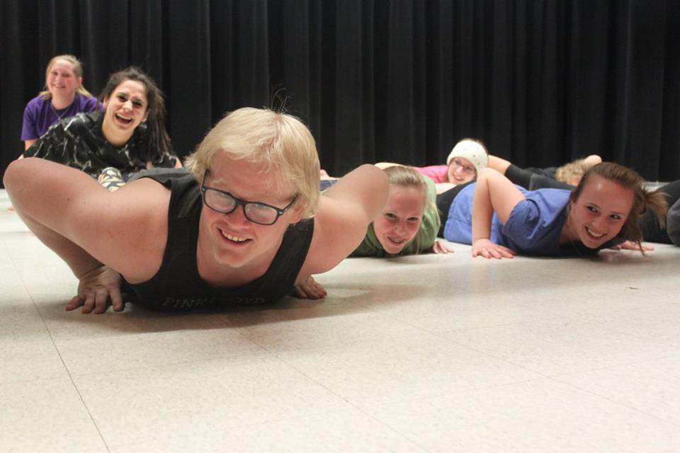 Hayden theater students rehearse during the 2016 workshop.
