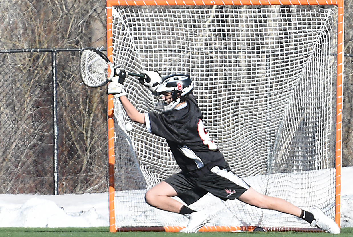 Another goal sinks into the net behind Eagle Valley goalie Joe Sheldon on Friday.