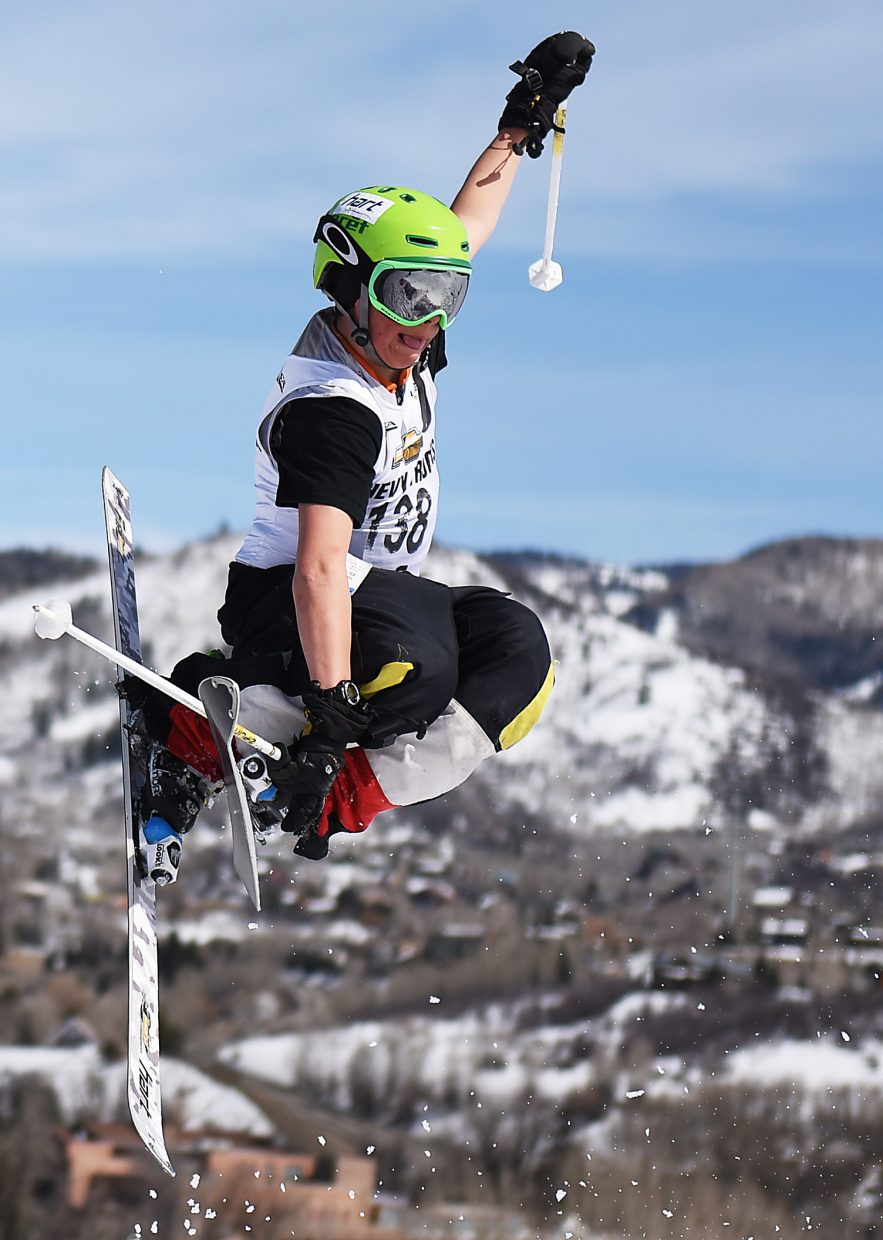 Vail's Lucas Nash soars from a jump Saturday at Howelsen Hill.