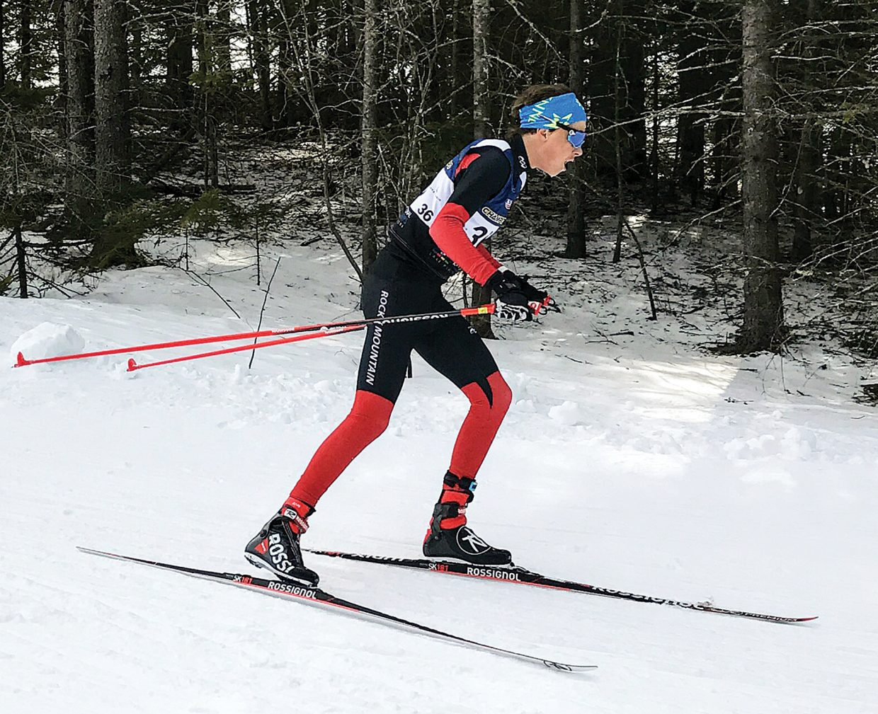 Sven Tate competes in the U18 boys 10-kilometer freestyle race at the USSA Cross Country Junior Nationals last week in Lake Placid, New York.